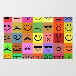 Square Emoji Faces Rug