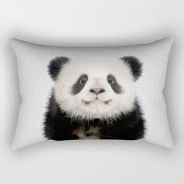 Panda Bear - Colorful Rectangular Pillow