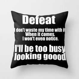 Jim Kelly Quote Throw Pillow