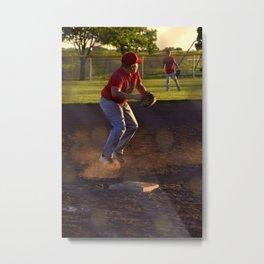 Baseball Action Metal Print
