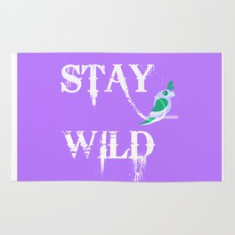Stay Wild Poster, Stay Wild Home Decor, Stay Wild Home Decor And Accessories Rug