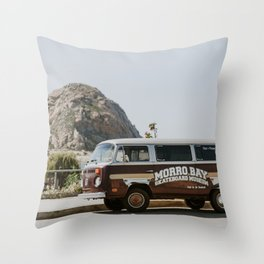 Morro Bay Scene Throw Pillow