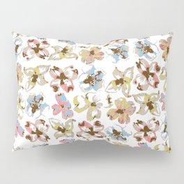 Silk Screen Floral Pillow Sham