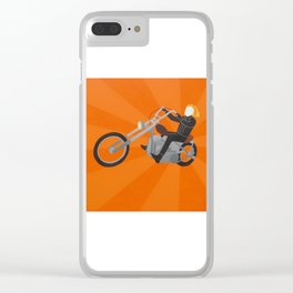 Ghost Rider Simplified Clear iPhone Case