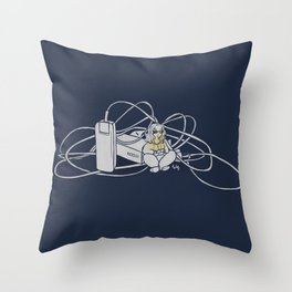 Wired Room Throw Pillow
