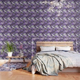 CHINA ANTIQUITIES YESTERDAY MEETS TODAY IN PURPLE AND WHITE Wallpaper
