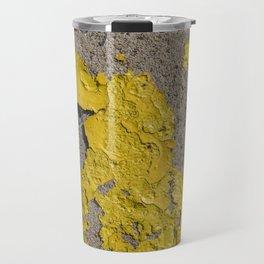 Yellow Peeling Paint on Concrete 2 Travel Mug