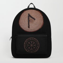 Laguz Elder Futhark Rune of the unconscious context of becoming or the evolutionary process. Backpack