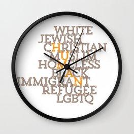 Just Human Wall Clock