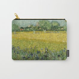 Field with Flowers near Arles by Vincent van Gogh Carry-All Pouch