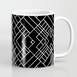 PS Grid 45 Black Coffee Mug