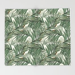 Palm leaves Throw Blanket