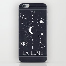 The Moon or La Lune Tarot iPhone Skin