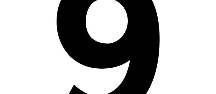 Number 9 (Black & White) Coffee Mug