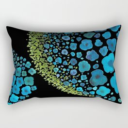 Paths of Color [Turquoise, Blue and Green] Rectangular Pillow