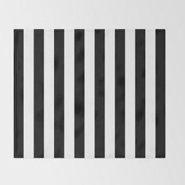 Parisian Black & White Stripes (vertical) Throw Blanket
