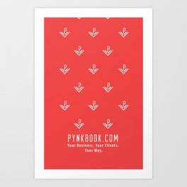 Pynkbook iPhone case Art Print