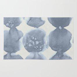 Shibori Wabi Sabi Indigo Blue on Lunar Gray Rug
