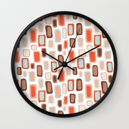 Retro Rectangles Wall Clock