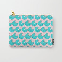 Teal Sprinkled Donut Carry-All Pouch