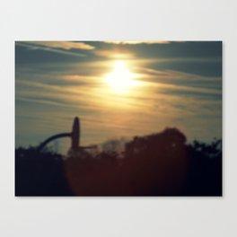 sun sets over a school yard Canvas Print