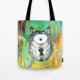 Wolf Spirit Animal Tote Bag