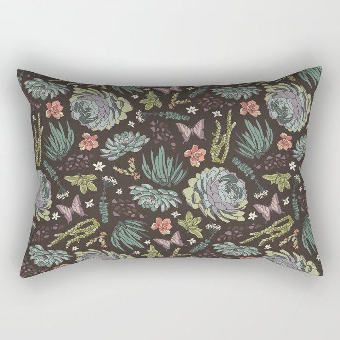 Cacti by Night Rectangular Pillow