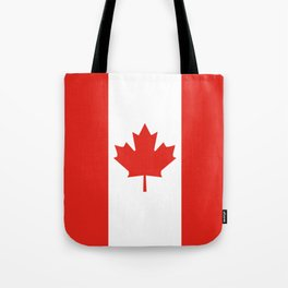 Red and White Canadian Flag Tote Bag