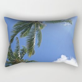 Palm trees, blue sky Rectangular Pillow