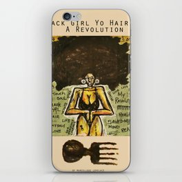 2014 Black Girl Yo Hair Is A Revolution art by Marcellous Lovelace iPhone Skin