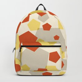 Pentagon yellow red grey Backpack
