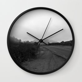 And The Fog Rolls In Wall Clock