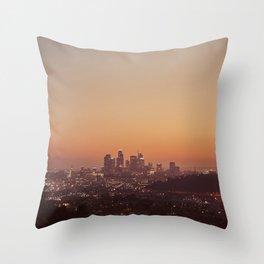 Los Angeles City Sunset Throw Pillow