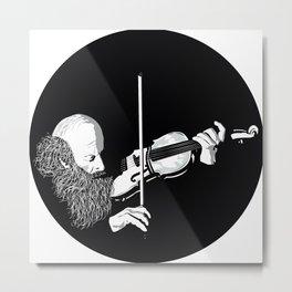 ·the violinist Metal Print