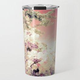 Pink Lavender Flowers Travel Mug