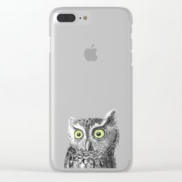 Owl portrait Clear iPhone Case