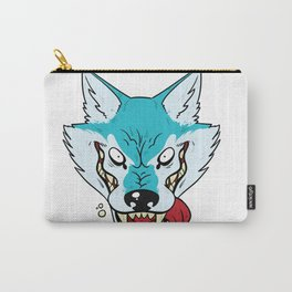 Who's Afraid of the Big Blue Wolf Carry-All Pouch
