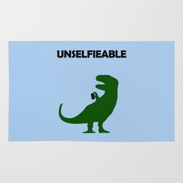 Unselfieable T-Rex Rug
