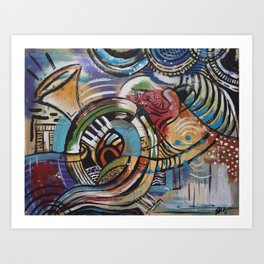 FREESTYLE: Golden Red Art Print