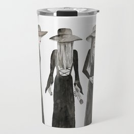 Southern Gothic Witch Coven Watercolor Travel Mug