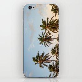 Sky beach palmier iPhone Skin