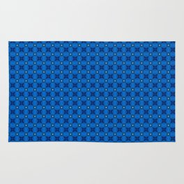 Blue Abstract Stars Pattern Rug