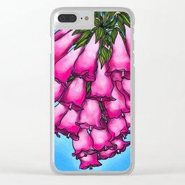 Pretty in Pink Bell Flowers Clear iPhone Case
