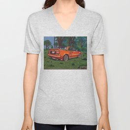 toyota mr2 painting Unisex V-Neck