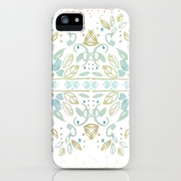 Boho floral iPhone Case