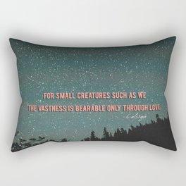 Vastness - Carl Sagan Rectangular Pillow