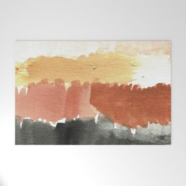 Abstract in Rust n Clay Welcome Mat