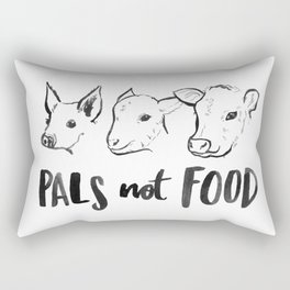 Pals Not Food Illustration by Laura Tubb Rectangular Pillow