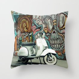 Vespa Chariot Throw Pillow
