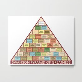 Ron Swanson Pyramid of Greatness Metal Print